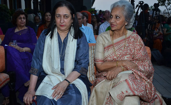 Waheeda Rehman at the launch of her biography with Nasreen Munni Kabir