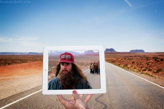 """Forrest Gump"" at Monument Valley, Utah on Route 163."