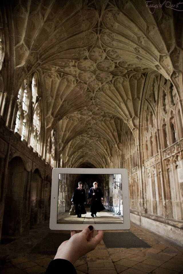 """Harry Potter"" at the Gloucester Cathedral, Gloucester, United Kingdom."