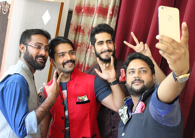 L to R: Akshat, Akhil, Manav & Sonal